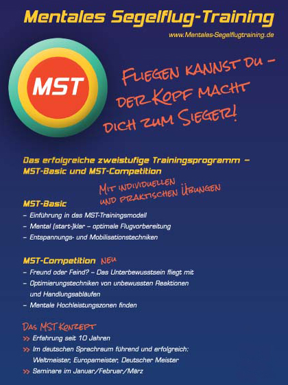 Flyer Mentales Segelflug-Training (MST)